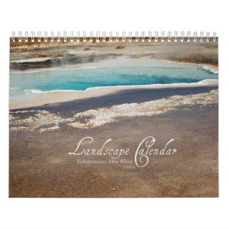 Calendario de Yellowstone - géiseres y piscinas