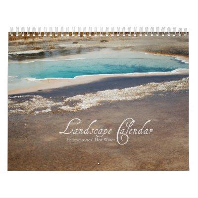 Calendario de Yellowstone - géiseres y piscinas te