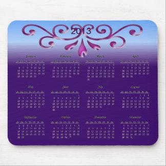 Calendario decorativo 2013 alfombrillas de ratones