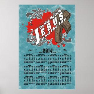 Calendario del 14 6 de Jesús Juan Poster