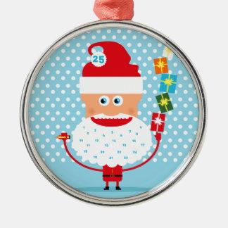 Calendario del advenimiento de la barba de Santa Adorno De Navidad
