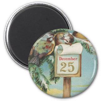 Calendario del advenimiento del vintage imán redondo 5 cm
