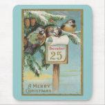 Calendario del advenimiento del vintage tapete de raton