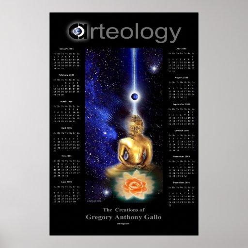 Calendario del alma 2006 del oro por Gregory Gallo Poster
