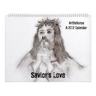 Calendario del amor 2012 del salvador