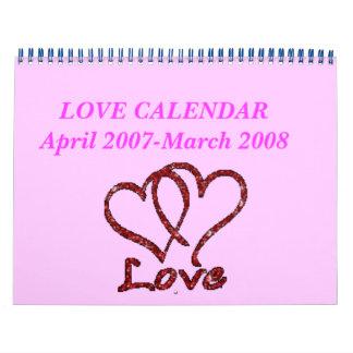 CALENDARIO del AMOR abril de 2007-marzo de 2008