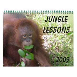 Calendario del animal salvaje de las lecciones de