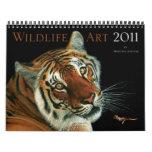 Calendario del arte 2011 de la fauna de Morgane