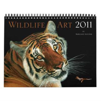 Calendario del arte 2011 de la fauna de Morgane An
