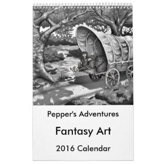Calendario del arte 2016 de la fantasía de las