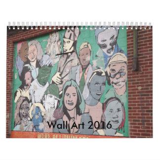 Calendario del arte 2016 de la pared