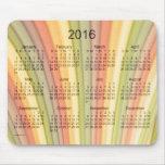 Calendario del arte 2016 del arco iris por el mousepads