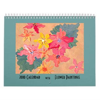 Calendario del arte de 2010 pinturas de la flor