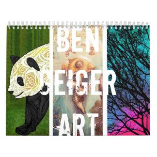 Calendario del arte de Ben Geiger