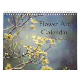 Calendario del arte de la flor