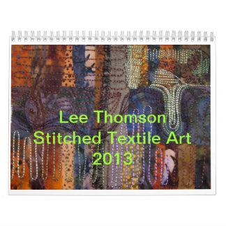 Calendario del arte de la materia textil