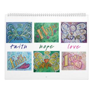 Calendario del arte de la palabra de los ángeles d