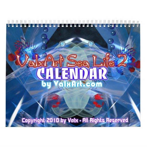 Calendario del arte de la vida marina por Valxart