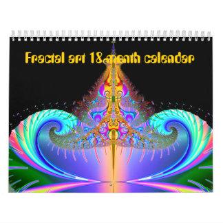 calendario del arte del fractal de 18 meses