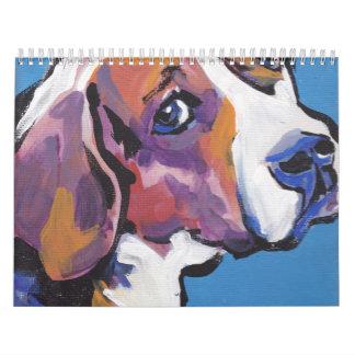 Calendario del arte del retrato del perro del