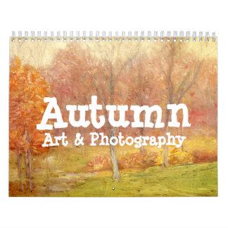 Calendario del arte y de la fotografía del otoño