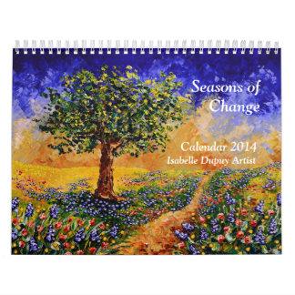 Calendario del artista 2014 de Isabel Dupuy