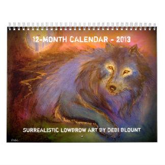"""Calendario del """"artista Lowbrow surrealista"""" 2013"""