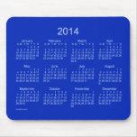 Calendario del azul real 2014 alfombrilla de ratón
