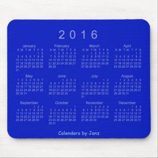 Calendario del azul real 2016 de Janz Mousepad