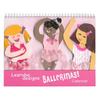 Calendario del ballet para los chicas