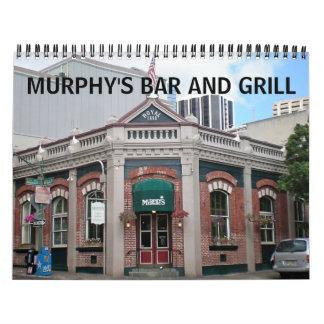 Calendario del bar y grill de Murphy