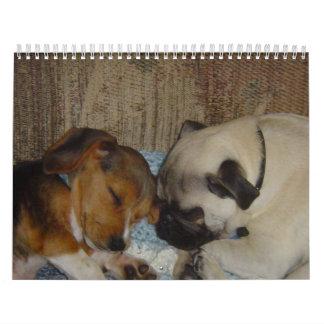 Calendario del barro amasado y del beagle