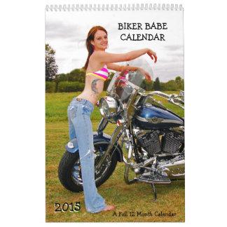 Calendario del bebé 2015 del motorista