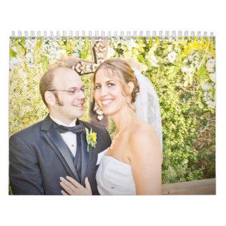 Calendario del boda de Allison y de Rob