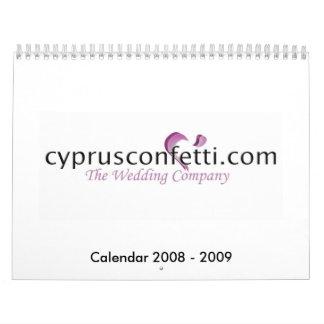 Calendario del boda de CyprusConfetti