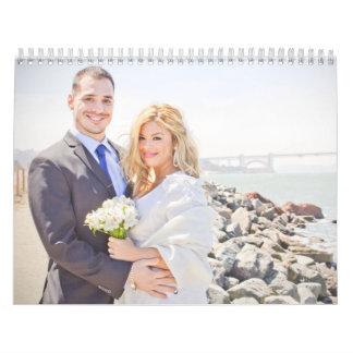 Calendario del boda de Luis y de Carla