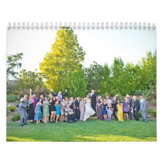 Calendario del boda de Olivia y de Patrick