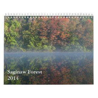 Calendario del bosque 2014 de Saginaw
