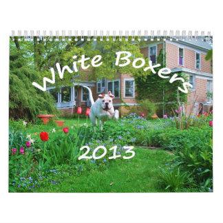 Calendario del boxeador de 2013 blancos
