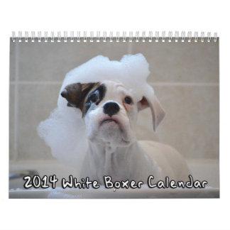 Calendario del boxeador de 2014 blancos