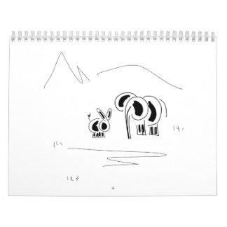 calendario del burro y del elefante