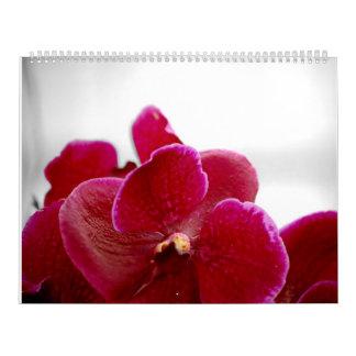 calendario del bw de las orquídeas