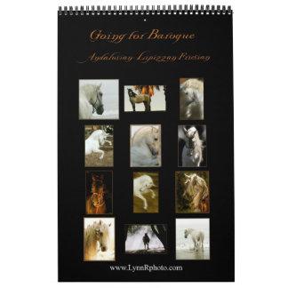 Calendario del caballo - andaluz, Lipizzan frisio