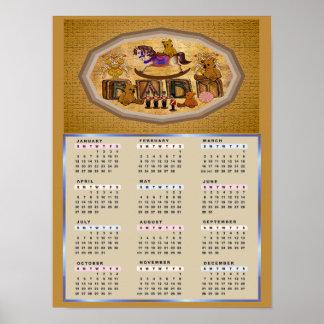 Calendario del caballo mecedora 2014 posters