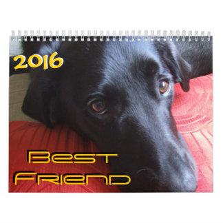 Calendario del calendario del perro del mejor