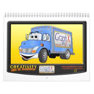 Calendario del camión del dibujo animado