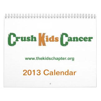 Calendario del cáncer de 2013 niños del agolpamien