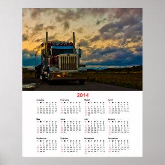 Calendario del cielo 2014 de la parada de camiones impresiones