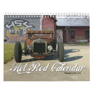 Calendario del coche de carreras