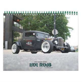 Calendario del coche de carreras del grupo de los